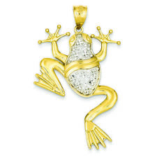 14K Two-tone Gold Frog Charm Pendant MSRP $897