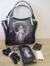 Anne Stokes - 3D Diseño de fantasía Bolso de mano cartera BLOOD-la vida-Negro Patente