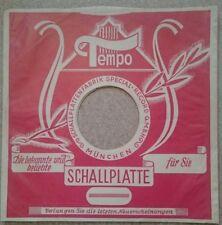"""5 rare original """"TEMPO rot München"""" 78rpm 10"""" Firmenlochcover / sleeve"""