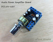 Micro Mini 2.0 Channel 1W*2 Stereo DC3V 5V 6V 9V 12V Audio Power Amplifier Board