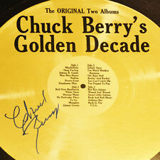 "Chuck Berry Signed Album Check Berry Autographed Vinyl ""Golden Decade"" LP (King)"