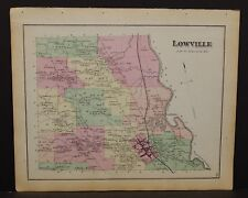 New York Lewis County Map Lowville Township 1875  W19#46