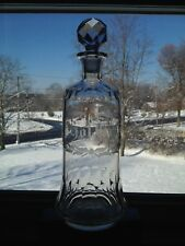 Antique Boston Sandwich Glass Blown Molded Cut Grant Bar Bottle Shown In Book
