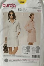 BURDA Uncut Sewing Pattern 6772 Ladies Dress Coat Size UK 12- 22 EUR 34-44
