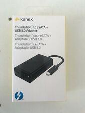 KANEX Thunderbolt / eSATA + USB 3.0 Nero - NUOVO