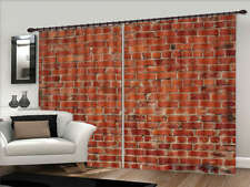 Walls Like Red Brick 3D Curtains Blockout Photo Printing Curtains Drape Fabric