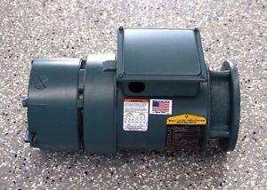NEW BALDOR 6P56H7100 MOTOR 60 HZ 3 PH. 1740 R.P.M. 1 H.P. W/ BRAKE 46BK0104B01