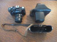 appareil photo zenit 11 objectif helios 44m-4 avec son etui en cuir
