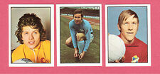 Lot of 3 1972 Williams Forlags Football Star Soccer Cards from Sweden E