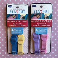 Goody GIRLS SIZED Stay Put Grip Elastic Headbands Sporty - 2 Packs, 4 Total