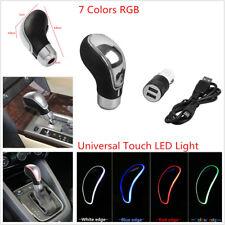 Touch Activated Sensor 7Color LED Light Car Gear Shift Knob USB Cigarette Charge