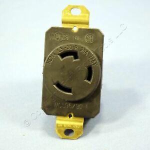 Pass & Seymour Twist Turn Locking Receptacle L5-30R Outlet 30A 125V Bulk 530-R