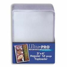 "1000 ULTRA PRO 3""X4"" CLEAR RIGID TOPLOADERS 40 SEALED 25CT PACKS TOPLOADERS CASE"