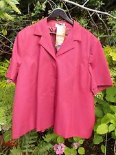 SLIMMA SHORT SLEEVE CHERRY PINK LINED JACKET - SIZE 32 - WITH TAGS - BRAND NEW