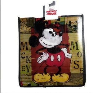 Disney Mickey Mouse Reusable Eco Friendly Shopping Tote Bag with Handles NEW