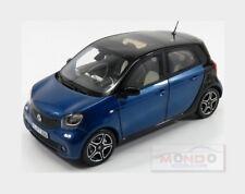 Smart Forfour 2015 Blue Met Black NOREV 1:18 NV183435