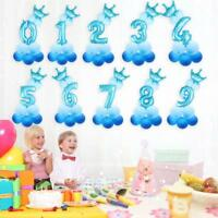 13pcs/set Number Foil Balloons 32 inch Digit Helium Ballons Birthday Party Decor