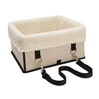 Pet Dog Car Carrier Booster Box Case Seat Kennel for Puppy Large Dog Beige L