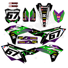 2017 2018 KXF 250 GRAPHICS KIT KAWASAKI KX250F DIRT BIKE MOTOCROSS MX DECALS