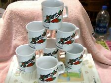 A Squadron Of Kliban Cat Mouserschmidt Mugs(7) Made By Kiln Craft