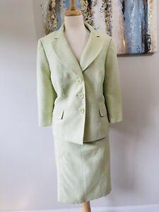 LE SUIT  Women 2PC Elegant Mint Green 3/4 Sleeves Skirt Suit Size 14w