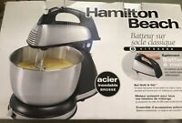 Hamilton Beach 64650 6Speed Classic Stand Mixer, Stainless Steel, New
