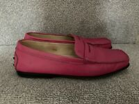 Gorgeous Fuschia Pink Leather TODS Loafers Size UK 5 Eu 37.5