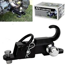 Komodo ATV Receiver Trailer Hitch 3 Way 2 Inch Hitch Ball Hitching Towing Closed