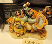 Harmony Kingdom Disney World Signed Aladdin Jasmine Genie Jafar Group Hug Marble