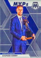 Stephen Curry 2019-20 MOSAIC MVPs Chrome Card #299 Golden State Warriors NBA
