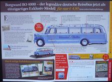 ATLAS VERLAG BORGWARD BO 4000 OMNIBUS, FLYER, WERBEBEILAGE