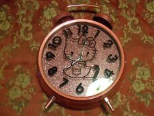Hello Kitty Pink Two Bell Alarm Clock