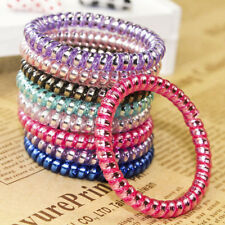 20 X Telephone Wire Cord Head Ring Hair Band Ponytail Holder Hair Accessories US