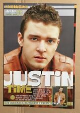 JUSTIN TIMBERLAKE Original Vintage Top of the Pops Magazine Postermag