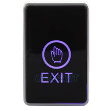 Touch Pad 12V Door Exit Release Button Switch For Access Control W/ LED Light