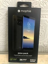 Genuine Mophie Juice Pack Qi Battery Case Cover For Samsung Galaxy Note 8 Black