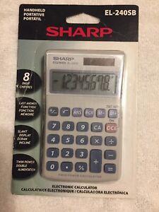 Sharp EL-240SB Electronic Handheld Calculator