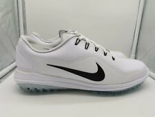 Nike Lunar Control Vapor 2 UK 12 White Black Pure Platinum 899633-100 Golf Shoes