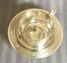 French Antique Cup & Saucer by Gallia (Christofle) –Sphinx /Lyre Model – 1890's