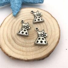 6pcs Jewellery Making Dress Charms Pendant Tibetan Silver 13x20mm