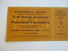 1923 Navy v Princeton Original Football Ticket Stub Baltimore Stadium 10/27/23
