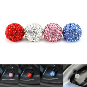 4pcs Diamond Bling Car Truck Tire Wheel Air Valve Stem Cap Dust Cover Universal