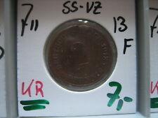 J 11   2 Pfennig  1913 F in SS-VZ