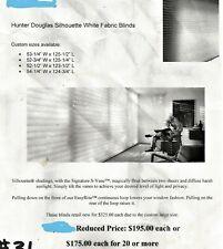 2 Hunter Douglas Silhouette Shades New In Box 54.75 x 124.5,54.5 x 125.75 inches