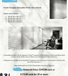 2 Hunter Douglas SILHOUETTE SHADES New In Box 52 3/4 x 124 3/4 ,54  x 124 1/2  A