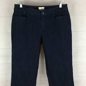 St. John's Bay womens size 10 stretch solid blue dark wash straight jeans LNC