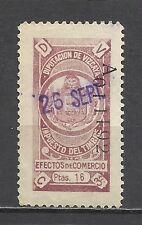 387-fiscal diputacion foral Vizcaya 1926 16 pts 15,00€ LOCAL CATALOGO ALEMANY