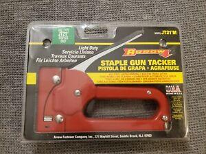 Staple Gun Tacker Arrow Model JT21 Light Duty Made in USA All Steel