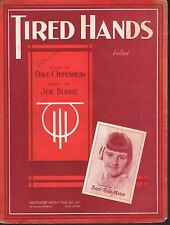 Tired Hands 1933 Baby Rose (Rose Marie Dick Van Dyke Show Sheet Music