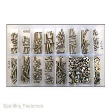 Assorted BA Stainless Steel Machine Screws, Bolts, Nuts & Washers - Refill Pack